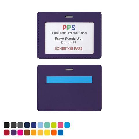 Picture of Landscape ID Card Holder in a choice of 20 colours in vegan matt velvet Torino.