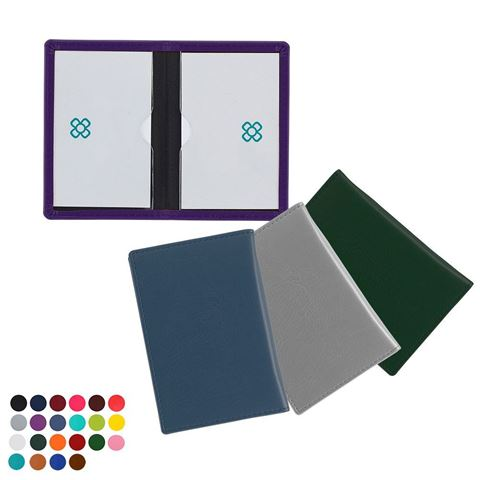 Picture of Credit or Travel Card Case in Belluno, a vegan coloured leatherette with a subtle grain.