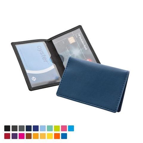 Picture of Credit or Travel Card Case in Torino matt velvet touch vegan PU in a choice of 20 colours.