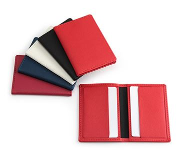 Picture of Credit Card Case in a choice of 5 Colours in recycled Como, a quality vegan PU.