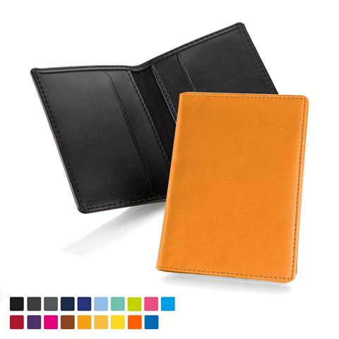 Picture of Torino matt velvet touch vegan PU Credit Card Case in a choice of 20 colours.