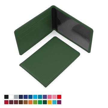 Picture of Season Ticket or ID Card Case in Belluno, a vegan coloured leatherette with a subtle grain.