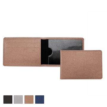Picture of Season Ticket or ID Card Case in textured Saffiano in 4 metallic colours.