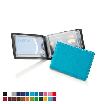 Picture of Credit Card Case for 6-8 Cards in Belluno, a vegan coloured leatherette with a subtle grain.