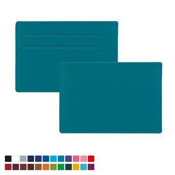 Picture of Slim Card Case in Belluno, a vegan coloured leatherette with a subtle grain.