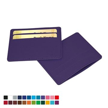 Picture of Deluxe Slimline Credit Card Case in Belluno, a vegan coloured leatherette with a subtle grain.