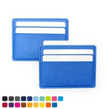 Picture of Deluxe Slimline Credit Card Case , choose from of 19 contemporary colours, in vegan matt velvet Torino.