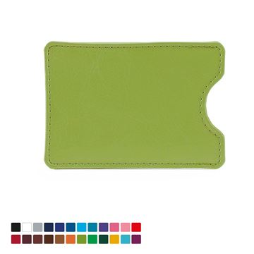 Picture of Credit Card Slip Case in Belluno, a vegan coloured leatherette with a subtle grain.
