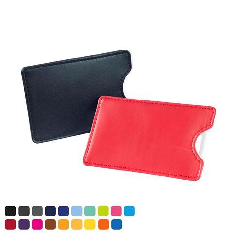 Picture of Credit Card Slip Case , choose from of 19 contemporary colours, in vegan matt velvet Torino.