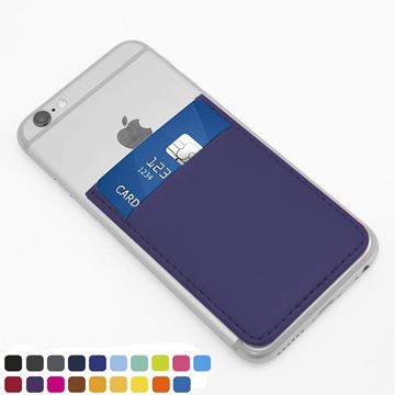 Picture of Card Case for a Smart Phone , choose from of 19 contemporary colours, in vegan matt velvet Torino.