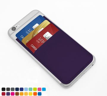 Picture of Card Case for a Smart Phone with Three Card Slots, in Soft Touch Vegan Torino PU.