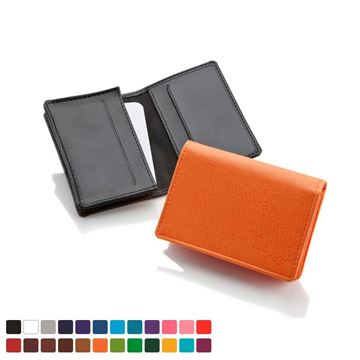Picture of Business Card Dispenser in Belluno, a vegan coloured leatherette with a subtle grain.