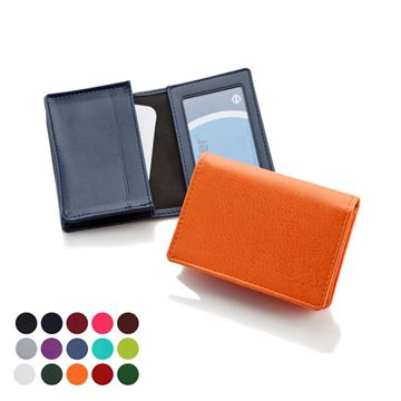 Picture of Deluxe Business Card Dispenser in Belluno, a vegan coloured leatherette with a subtle grain.