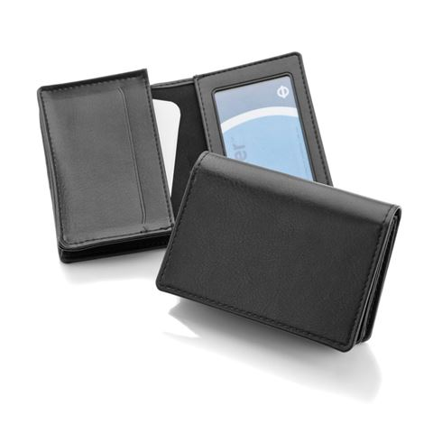 Picture of Deluxe Business Card Dispenser with Framed Window Pocket