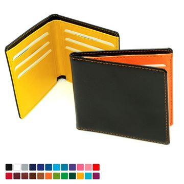 Picture of Billfold Wallet in Belluno, a vegan coloured leatherette with a subtle grain.
