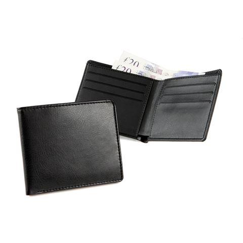 Picture of Billfold Wallet in black vegan Belluno