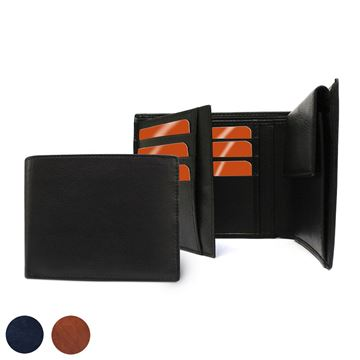Picture of Accent Sandringham Nappa Leather Three Way Wallet, with Coin Pocket