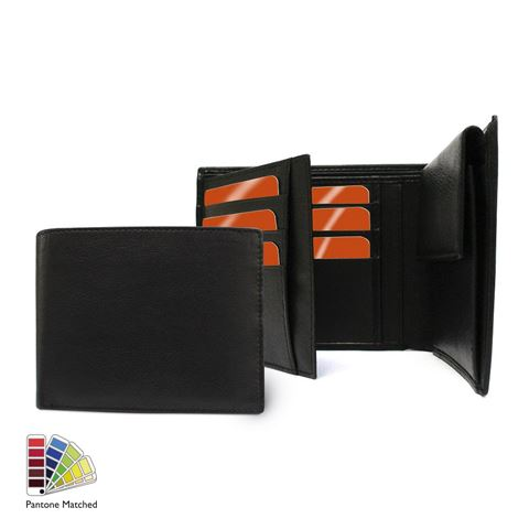 Picture of Sandringham Nappa Leather Three Way Wallet, with Coin Pocket made to order in any Pantone Colour