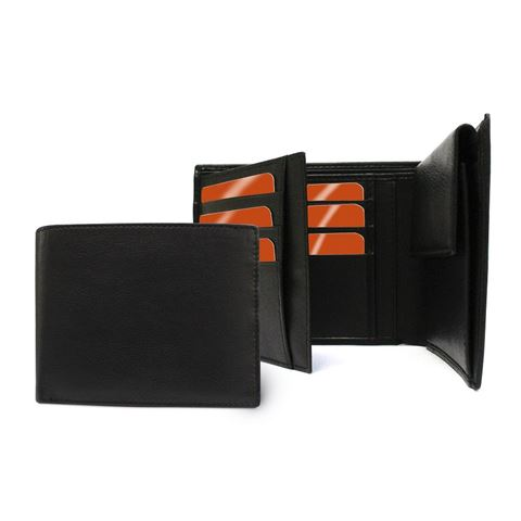 Picture of Sandringham Nappa Leather Three Way Wallet with Coin Pocket