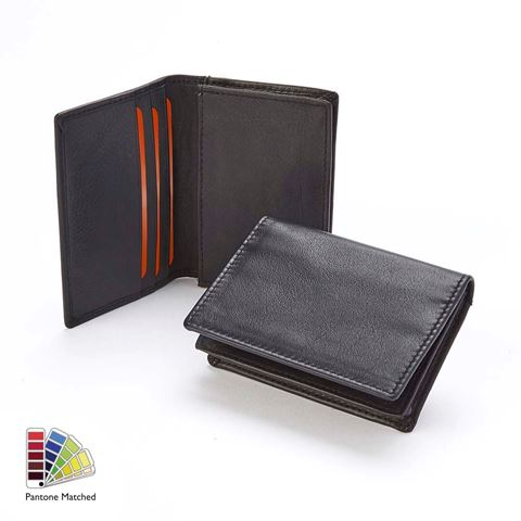 Picture of Sandringham Nappa Leather Business Card Holder made to order in any Pantone Colour