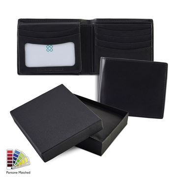 Picture of Sandringham Nappa Leather Deluxe Billfold Wallet made to order in any Pantone Colour