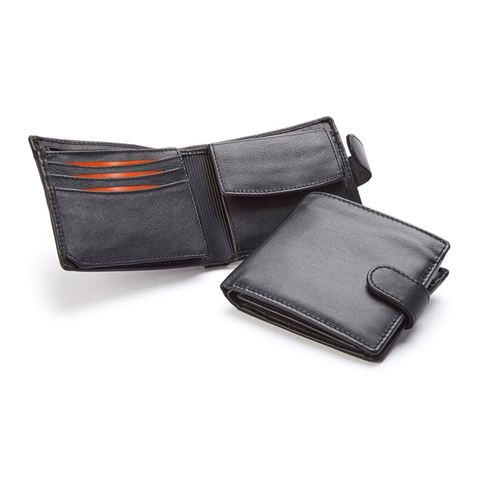 Picture of Sandringham Nappa Leather Billfold Wallet with a Strap and Coin Compartment