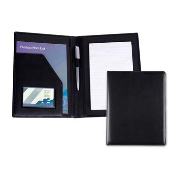 Picture of Black Belluno PU A5 Conference Folder