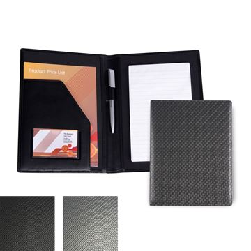 Picture of Carbon Fibre Textured PU A5 Conference Folder.