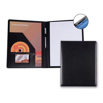 Picture of Belluno PU A4 Conference Folder with Pad Clip