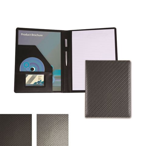 Picture of Carbon Fibre Textured PU A4 Conference Folder.