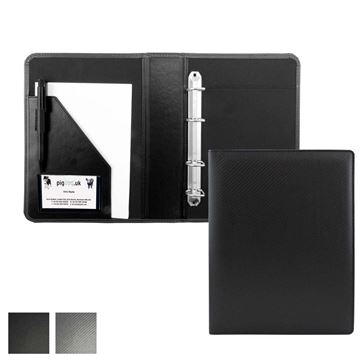 Picture of Carbon Fibre Textured PU A5 Ring Binder.