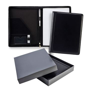 Picture of Ascot Leather A4 Zipped Conference Folder