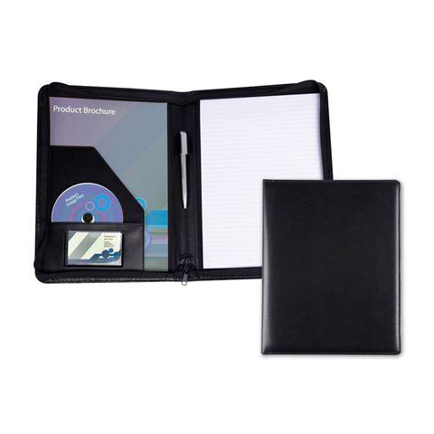 Picture of Black Belluno PU Zipped A4 Conference Folder