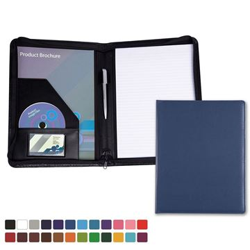 Picture of A4 Zipped Conference Folder in Belluno, a vegan coloured leatherette with a subtle grain.