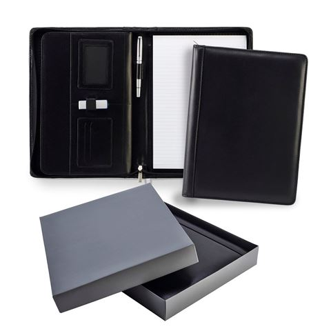 Picture of Ascot Leather A4 Zipped Deluxe Conference Folder