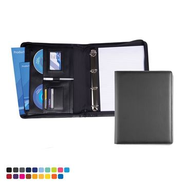 Picture of Deluxe Zipped Ring Binder in Soft Touch Vegan Torino PU.