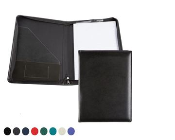 Picture of Zipped Conference Folder with co ordinating Leather Interior Pockets finished in Recycled Environmentally friendly Eleather, in a choice of 8 colours.