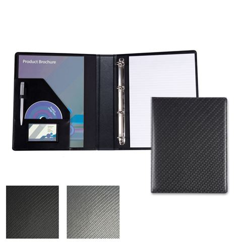 Picture of Carbon Fibre Textured PU A4 Ring Binder.