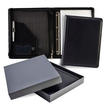 Picture of Ascot Leather Zipped Ring Binder