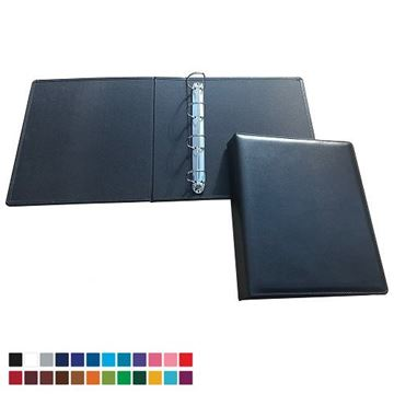 Picture of A4 Extra Wide Ring Binder in Belluno, a vegan coloured leatherette with a subtle grain.