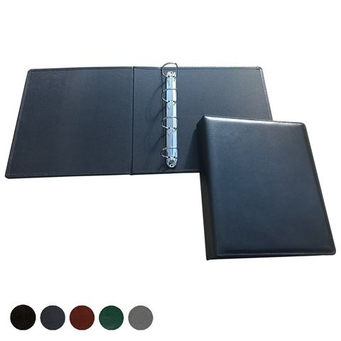 Picture of Hampton Leather Extra Wide Ring Binder, made in the UK in a choice of 5 colours.