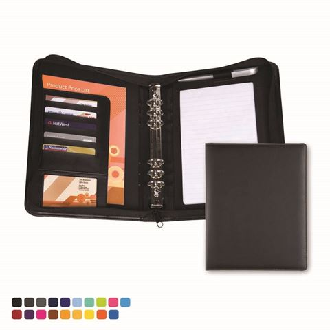 Picture of Zipped Six Ring Organiser in Soft Touch Vegan Torino PU.