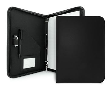 Picture of Clapham PU A4 Zipped Ring Binder