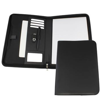 Picture of Clapham PU A4 Deluxe Zipped Conference Folder