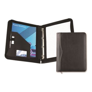 Picture of Black Houghton PU A4 Zipped Ring Binder