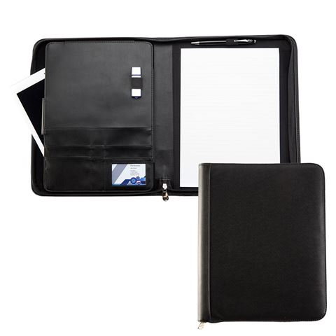 Picture of Black Houghton A4 Zipped Conference Folder with padded Tablet Pocket