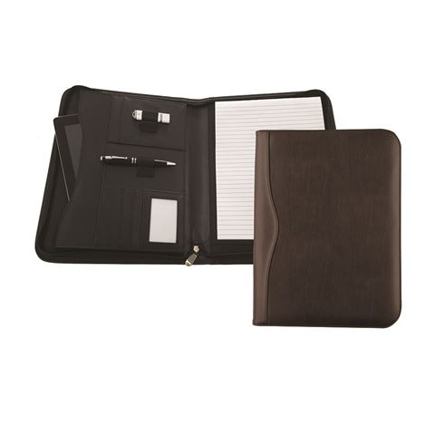 Picture of Houghton A4 Deluxe Zipped Conference Folder With Padded Tablet or Laptop Pocket