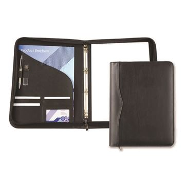 Picture of Black Houghton A4 Zipped Ring Binder