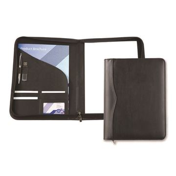 Picture of Black Houghton A4 Zipped Conference Folder