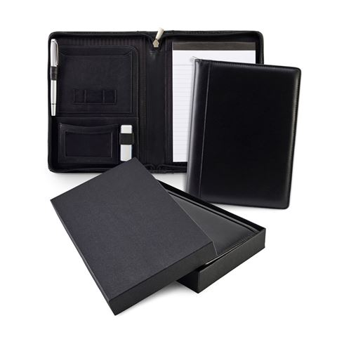 Picture of Sandringham Nappa Leather Zipped A5 Conference Folder